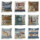 "Seaside Tapestry Cushion Covers in 8 fantastic designs, 18""x18""or filled cushion"