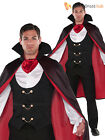 Mens Gothic Vampire Halloween Fancy Dress Costume + Cape Adult Count Dracula
