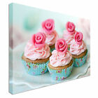 Pink Rose Cupcakes Canvas wall Art prints high quality great value