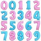 "BALLOONS FOIL 40"" LARGE 40 INCH BLUE PINK NUMBERS 0-9 BIRTHDAY PARTY DECORATIONS"