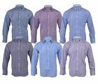 Mens Polycotton Check Long Sleeve Shirt Soft Work Casual M - 5XL