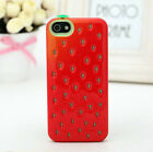 CUTE RED STRAWBERRY CASE FOR IPHONE 5S,5, 4S/4 (VERY LOVELY  AND GLOWS IN DARK )