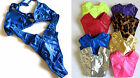 NEW VINTAGE 90s High-Hip Low V-Cut Shiny Thong Top Bikini SET Panty Lingerie S-L