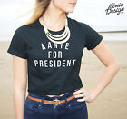 * Kanye For President Crop Top Shirt Funny Slogan Vote For West America 2020 *