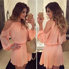 2015 Women Clothes Casual Mini Dress Long Sleeve Party Evening Cocktail Summer
