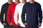 Anvil Mens Long Sleeve Crew Neck Heavyweight T-Shirt 100% Cotton