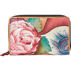 Anuschka Twin Zip Organizer Wallet 3 Colors Ladies Small Wallet NEW