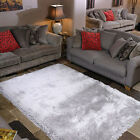 SUPREME QUALITY LUXURIOUS 7CM LONG SHAGGY PILE SILVER PEARL FROM FLAIR RUGS