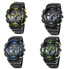 New Man Dual Display Waterproof Multi Function LED Sports  Alarm  Wrist Watch