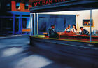 Hip Hop Cafe Poster Biggie 2Pac Aaliyah In Style of Nighthawks by Edward Hopper