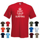 'Keep Calm and Go Surfing' Funny Mens Surfer t-shirt