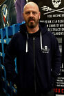 Navy Blue or Black Embroidered Zip Hoodie Jolly Roger Sea Shepherd Organic