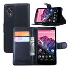 Luxury PU Leather Slim Card Wallet Stand Flip Case Cover For LG / Google Nexus 5