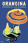 Orangina (1953) Orange Peel Umbrella Vintage-Style Bernard Villemot Spanish Ad