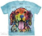 Dog is Love Unisex Adults Russo T-Shirt by The Mountain T-Shirts - Free Post!