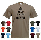 'Keep Calm and Grow a Beard' Moustache/ovember Mo Tache Funny T-shirt