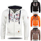 GEOGRAPHICAL NORWAY Top Herren Kapuzen Jacke 87120 Sweat Shirt Pullover Neu