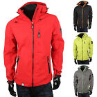 GEOGRAPHICAL NORWAY Top Herren Softshell Jacke 87123 Outdoor Kapuze Sweat Neu
