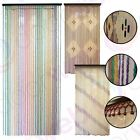 WOODEN BEADED DOOR CURTAIN Bamboo Fly Bug Screen Colour Rainbow Diamond Stripes
