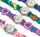 Kids Watch Analog Children Wrist Boys Girls Watches 3D fun Boxed Buckle Gift New