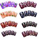 Women's Christmas 3D Nails Art Water Transfer Finger Stickers Xmas Party Beauty