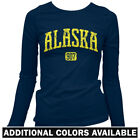 Alaska 907 Women's Long Sleeve T-shirt LS - Anchorage Juneau Fairbanks AS - S-2X