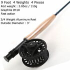 3 4 5 6 7 8 9 WT Fly Rod And Reel Combo Medium fast Fly Fishing Rod