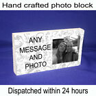 """Personalised 6x4"""" plaque with any photo and message unique gift"""
