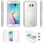 TPU Mask Front Clear Full Slim Cover Case For Samsung Galaxy LG Apple iPhone