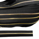 Continuous metal chain zip gold zipping upholstery N5 B1S