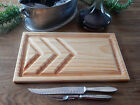 CARVING CHOPPING MEAT BOARD VINTAGE STYLE BULLNOSE EDGE GROOVED AUSTRALIAN MADE
