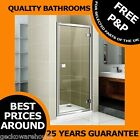 800mm DELUXE HINGE SHOWER DOOR ENCLOSURE/CUBICLE, CHROME FRAME AND HANDLE
