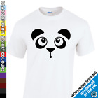 Mens Cute Panda Face T Shirt - Animal Lover Gift Funny Secret Santa Bear Tshirt