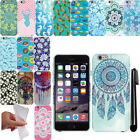 For Apple iPhone 6 6S 4.7 inch TPU PATTERN SILICONE GEL Soft Case Cover + Pen