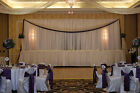 "2 CHIFFON DRAPE PANEL WHITE BACKDROP 120"" WIDE DRAPING CURTAINS MADE in USA"