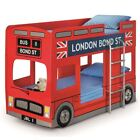 London Red Bus Wood Kids Theme Bunk Bed 3ft Single with 4 Mattress Options