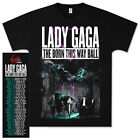 Lady Gaga Castle Tour 2013 The Born This Way Ball Pop Shirt T-Shirt Music Mens  image