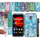 For ZTE Majesty Z796C TPU PATTERN SILICONE Rubber GEL Soft Case Phone Cover +Pen