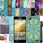 For ZTE Warp Elite Z9518 TPU PATTERN SILICONE Rubber GEL Soft Case Cover + Pen