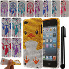 For Apple iPod Touch 5 6 DIAMOND TPU SILICONE Bumper Case Cover + Pen