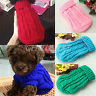 Pet Dogs Puppy Cat Winter Warm Knitted Sweater Coat Clothes Apparel Costume
