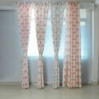 STON Floral Blockout Home Room Door Window Pair Curtains Ring Top Eyelet Drape