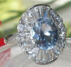 Size J L N P R T 5 - 10 11mm Blue Flower Elegant Ring Stainless Steel LTK177E