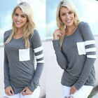 Women Casual Blouse Crochet Pullover Long Sleeve Loose Tops T-Shirt Blouse New