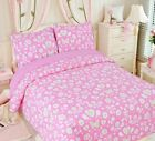 Pink Floral/Heart 100% Cotton Quilt Set, Bedspread, Coverlet image