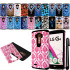 For LG G4 H815 F500 VS986 H810 ShockProof HYBRID Rugged HARD Case Cover + Pen