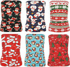 Womens Christmas Xmas Print Stretch Bodycon Ruched Boob Tube Ladies Top 4-14