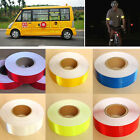 5CM x 3M Safety Warning Conspicuity Reflective Tape Vinyl Roll Self-Adhesive