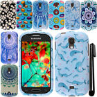 For Samsung Galaxy Light T399 PATTERN HARD Protector Case Phone Cover + Pen