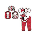 Minnie Mouse Romper Bib Hat Leggins Set (0-6months) Disney Licensed New Girl Boy
